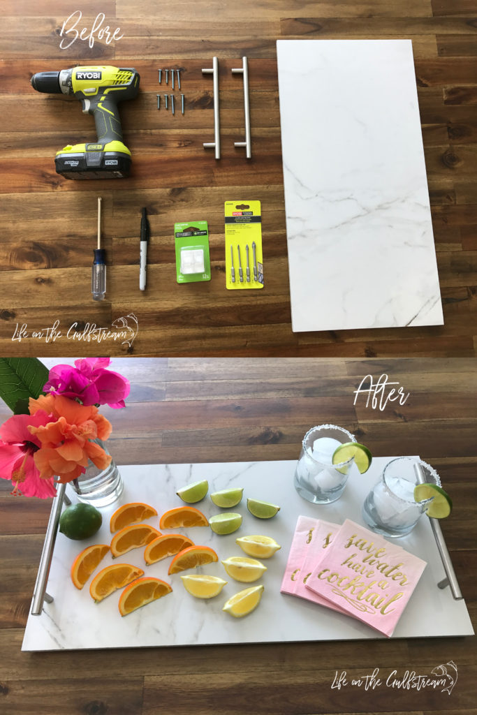 DIY Serving Tray Tutorial | Life on the Gulfstream