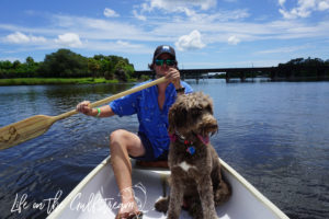 James and Pippa Canoe on Eau Gallie River | Life on the Gulfstream