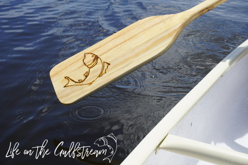 DIY Wood Burn Paddle Fish Logo | Life on the Gulfstream