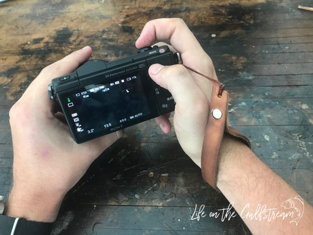 DIY Leather Camera Strap in Action | Life on the Gulfstream