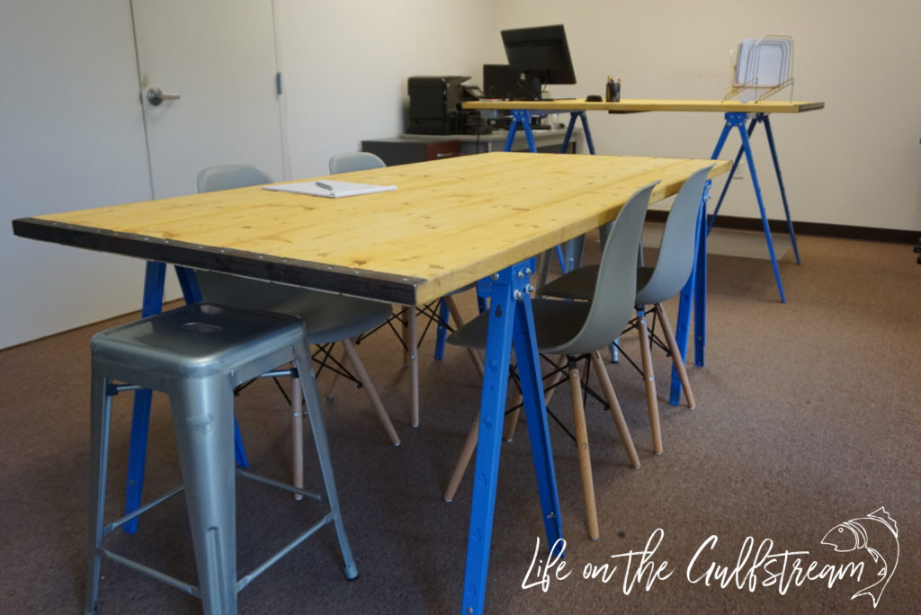 James Has An Office DIY Conference Table And Standing Desk Life - Homemade conference table