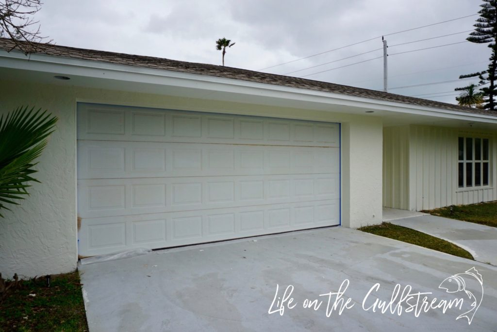 Garage Door Before Stain | Life on the Gulfstream