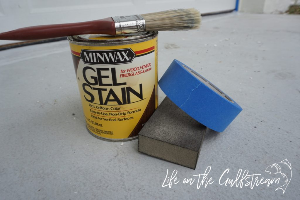 DIY Gel Stain Garage Door Materials